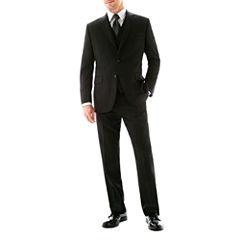 Stafford® 100% Wool Super 100's Black Stripe Suit Separates - Classic