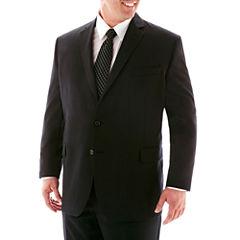 Stafford® Super 100 Black Stripe Suit Separates Jacket–Big & Tall