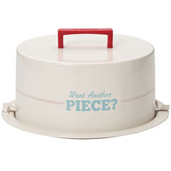 Cake Boss™ Metal Cake Carrier - Want Another Piece