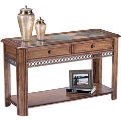 Midwest 2-Drawer Slate Top Console Table