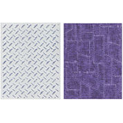 Sizzix® Texture Fades Embossing Folders by Tim Holtz® Diamond Plate & Riveted Me