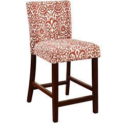Leona Upholstered Barstool with Back