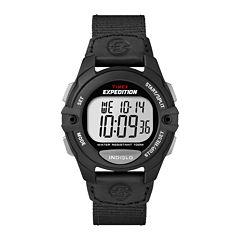 Timex Mens Black Strap Watch-T499929J