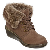 Arizona Snyder Lace-Up Wedge Booties