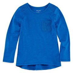Okie Dokie Long Sleeve T-Shirt-Preschool Girls