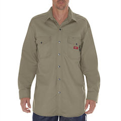 Dickies Long Sleeve Button-Front Shirt