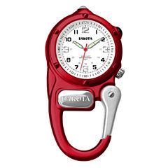 Dakota Mini Clip Microlight Carabiner, Red Pocket Watch  38792