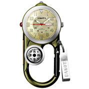 Dakota Men's Green Angler II Carabiner Clip Watch 37107