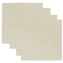 Metro Farmhouse By Park B. Smith® Ticking Stripe Set of 4 Natural Linen Placemats