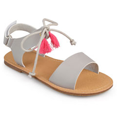 Journee Kids Braya Girls Flat Sandals - Little Kids