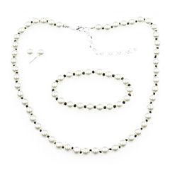 Vieste Rosa Womens 3-pc. White Brass Jewelry Set