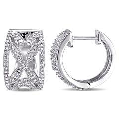 1/4 CT. T.W. White Diamond Ear Cuffs