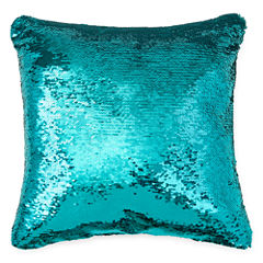 Jcpenney Home Mermaid Square Sequins Decorative Pillow