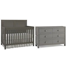 Tiamo Castello 2-PC Baby Furniture Set- Grey