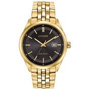 Citizen® Eco-Drive Men's Gold Tone Watch With Date Bm7252-51E