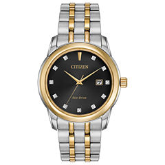 Citizen® Eco-Drive Men's Two Tone Watch With Diamond Accents Bm7344-54E