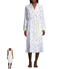 Adonna Jersey Long Sleeve Nightgown + Robe Set