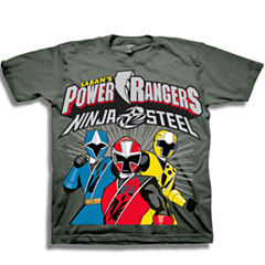 Short Sleeve Power Rangers T-Shirt-Toddler Boys