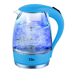 Elite Platinum EKT-300BL 1.7 Liter Glass Cordless Electric Kettle