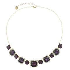 Monet Jewelry Womens Purple Collar Necklace