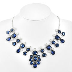 Monet Jewelry Blue Statement Necklace