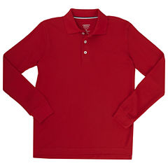 French Toast Ls Pique Polo