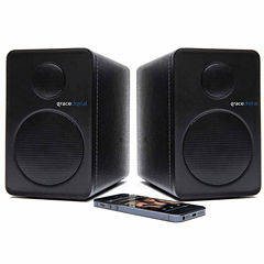 Grace Digital Audio GDI-BTSP APTX Powered Bookshelf Bluetooth Speakers - Set of 2