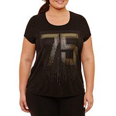 Xersion Short Sleeve V Neck Graphic T-Shirt