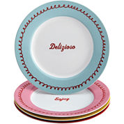 Cake Boss™ Set of 4 Porcelain Dessert Plates - Icing & Quotes