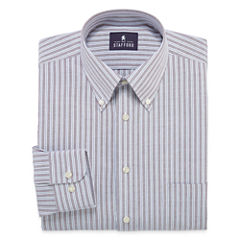 Stafford® Long-Sleeve Travel Wrinkle-Free Oxford Dress Shirt