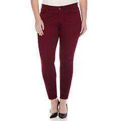 Arizona Sateen Skinny Pants - Juniors Plus