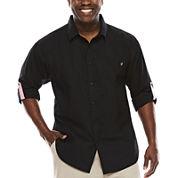 Steve Harvey Long-Sleeve Solid Shirt - Big & Tall