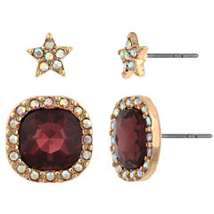 Decree 2-pc. Red Earring Sets
