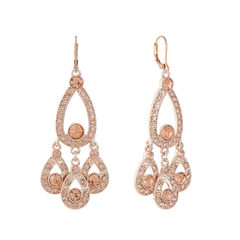 Monet Jewelry Pink Chandelier Earrings