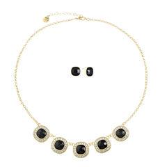 Monet Jewelry Womens 2-pc. Black Jewelry Set