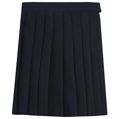 French Toast Pleated Skirt Solid Woven Pleated Skirt - Preschool Girls