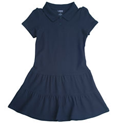 French Toast Short Sleeve Fitted Sleeve Shift Dress - Big Kid Girls