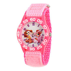 Disney Girls Pink Palace Pets Time Teacher Strap Watch W002832