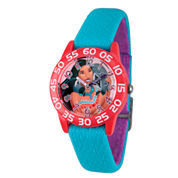 Disney Princess Girls Blue Pocahontas Time Teacher Strap Watch W002974