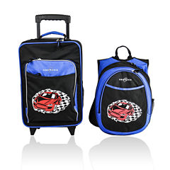 Suitcase and Backpack Set with Integrated Cooler