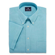 Stafford® Travel Short-Sleeve Wrinkle-Free Oxford Dress Shirt - Big & Tall