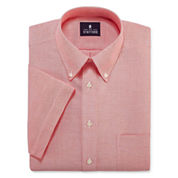 Stafford® Travel Short-Sleeve Wrinkle-Free Oxford Dress Shirt