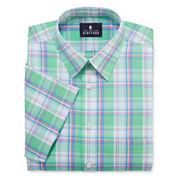 Stafford® Travel Short-Sleeve Easy-Care Broadcloth Dress Shirt