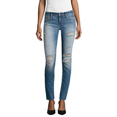 Arizona Destructed Skinny Jeans  - Juniors