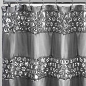 Popular Bath Sinatra Silver Shower Curtain
