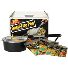 Open-Fire Pop Popcorn Popper Set