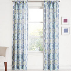 Tessa Medallion Rod-Pocket Curtain Panel