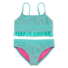 Angel Beach Girls Solid Bikini Set - Big Kid