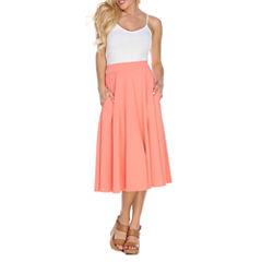 White Mark Flare Flared Skirt