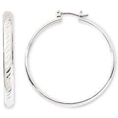 Monet® Silver-Tone Large Hoop Earrings